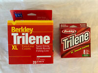 LOT OF 2: BERKLEY TRILENE SUPER STRONG CASTING FISHING LINE 8lb & 20lb ~ D21