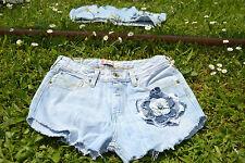 VTG Levis 627 Denim Hose Jeans Shorts individuell verschönern High Waist SZ S M49