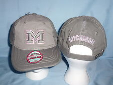 Michigan Wolverines Gray/Pink Duo Cap/Hat Zephyr Womens Osfa size Nwt $22 retail
