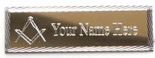 Personalised Gold Diamond Cut Masonic Crest no G Case Plate (MZ8)