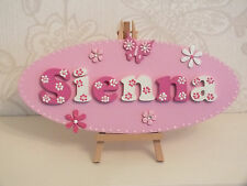 "Personalised Large 12"" Children's Girls/ Boys Wooden Door/Wall Plaque"