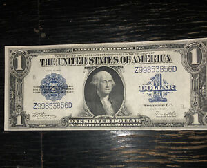"""1923 $1 DOLLAR """"HORSE BLANKET"""" SILVER CERTIFICATE LARGE SIZE NOTE UNCIRCULATED"""