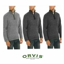 NWT Men's Orvis Brighton Sherpa Lined Sweater 1/4 Zip Warm Layering Variety