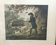 "18th Century Etching By George Morland "" Pheasant Shooting """