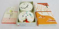 """2 Round Japanese Container Box Dish 4"""" (Nagoya Japan) for makeup powder candy ?"""