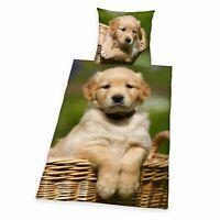 Hunde Bettwäsche 2tlg. Hundebaby Digital Druck 135x200 cm (80x80 cm)