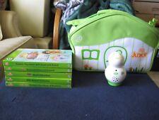 LeapFrog Tag Jr Green, 5 Hardcover Preschool Learning Books & Green Travel Case