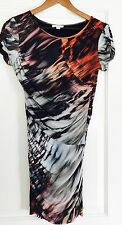 WITCHERY WOMENS DRESS PRINTED STRETCH VISCOSE SHORT SLV LINED SZ XS