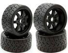 Powerhobby 1/8 Gripper Front Rear 42/54/100 Belted Tires Black Arrma Infraction