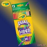 Crayola 2 Dual-Sided Double Ended Colouring Pencils - 12 Pencils = 24 Colours