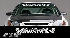 """the punisher slanted Car windshield banner decal sticker 36"""" choice of color"""