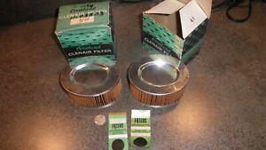 2XRare NOS OEM Crosland#876,Vera#11-05503,1966-67 Sunbeam.Rootes Imp Air Filters