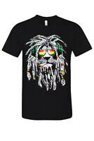 Smoking Rasta Lion Hip Hop Inspired Vintage Urban Street T-Shirt New Black