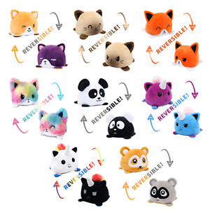 Double-Sided Flip Moodies Cat Reversible Plush Toys Assortment You Choose NEW