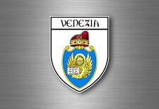 Sticker decal souvenir car coat of arms shield city flag venice italy