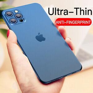 COVER per Iphone 12 Pro Max Mini ULTRA SOTTILE SEMI TRASPARENTE SLIM antiscivolo