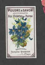 Ancienne  étiquette parfum poudre de savon Violettes de parme 5,3 cm x 9 cm