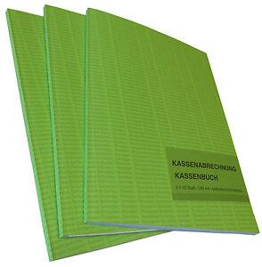 Kassenabrechnung Kassenbuch A4 2x50 Bl. SELBSTDURCHSCHREIBEND (22501)