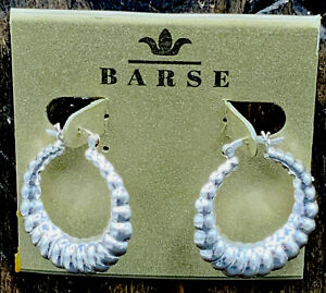 Barse By Modes Shrimp Earrings-Sterling Silver- NWT