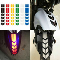 Motorcycle Reflective Stickers Wheel on Fender Safety Warning Arrow Tape Decals