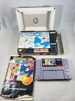 Mario's Early Years Preschool Fun Super Nintendo SNES CIB Complete Damaged Box