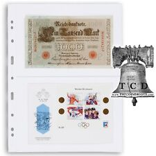 20 Lighthouse Grande Pages 2C Stamp Sheets Fits Graded Currency Slab Vario