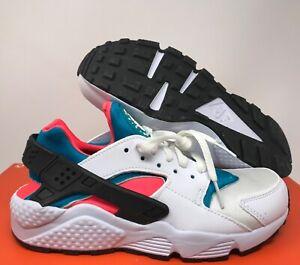 Nike Women's Huarache ID White-Blue-Crimson sz 6 [777331-999]