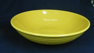 """Vintage Bauer Pottery Ring Ware 12 1/4"""" Chinese Yellow, Low Salad Bowl  MINT"""