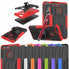For Huawei P Smart Case Heavy Duty Armour Tough Shock Proof Builder Stand Cover