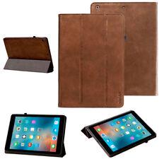 "Cover Apple iPad 2017 (9,7"")  iPad 5 Schutzhülle Leder Tasche Tablet Case braun"