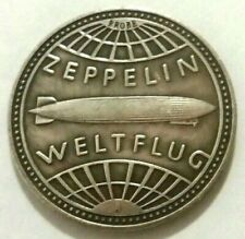 5 REICHSMARK ZEPPELIN - GERMANY 1929 - SOUVENIR COIN MADE OF SILVER PLATED METAL