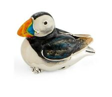 More details for saturno silver and enamel puffin