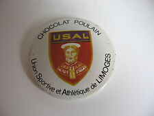 BADGE CHOCOLAT POULAIN *U.S.A.L UNION SPORTIVE ATHLETIQUE DE LIMOGES* (RUGBY)