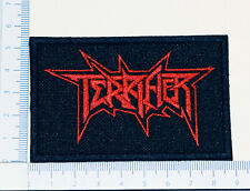 TERRIFIER 01 red embroidered patch, thermal glue on the back