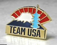 OLYMPIC PINS BADGE 2020 TOKYO JAPAN TEAM USA NOC PATRIOTIC MOUNT FUJI