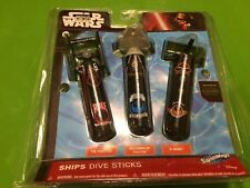 B72 STAR WARS Dive Sticks 3 pack Pool Toys-Tie Fighter-X Wing-Millenium Falcon