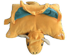 Pokemon Character Dragonite Pillow Plush Very Soft Stuffed Velour Folds to Stand