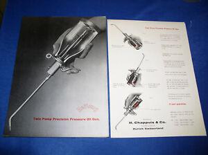 2 Stück Prospekt Blätter Reilang Ölkanne Öler Pressure Oil Gun