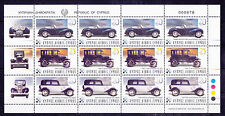 CYPRUS 2003 Mint NH Classic Cars 4 Sets in Strips Sheet Michel #1010-1012 VF