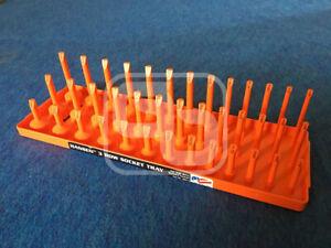 Snap On socket tray sae orange 3/8 Dr  3 row