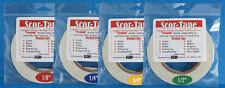 "Scor-Tape Adhesive SAMPLER - 1 each 1/8"" 1/4"" 3/8"" 1/2"" Scor-Pal FREE SHIPPING!!"