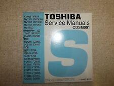 Toshiba TV DVD VCR Service Manual CD CDSM001 *FREE SHIPPING*