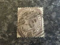 MAURITIUS POSTAGE STAMP SG100 BROWN PURPLE 2R & FIFTY CENTS FINE USED