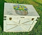 CHEST antique TRUNK painting NANTUCKET summer home BASKET nautical TREASURE old