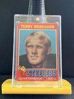 1971 Topps Football #156 Terry Bradshaw Rookie. Nice Centering. BenefitsCharity!