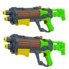 2 x WATER GUN TWO GREEN STAR GALAXY WARS STORMTROOPER PUMP ACTION SHOOTERS 940