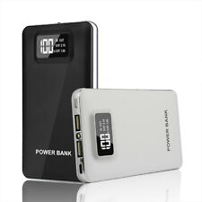 Portable 50000mah Power Bank 2usb LED LCD Backup Battery Charger for Iphone7 8 White