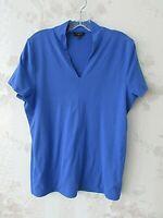 TALBOTS Women's Shirt Top Blouse, Blue, Petite, Size Lp