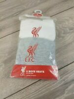 Official Liverpool Kids Vests Team 2 Pack Football Childrens  9-10 YRS A362-9