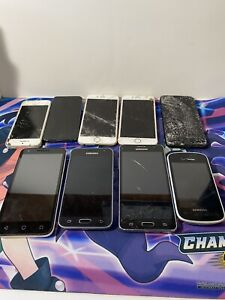 Lot of iPhones And Samsung Phones For Parts. 9 Total
